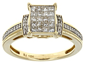 Pre-Owned White Diamond Ring 10k Yellow Gold .50ctw
