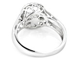Pre-Owned Cubic Zirconia Rhodium Over Sterling Silver Dancing Bella Ring 1.04ctw