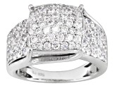 Pre-Owned Cubic Zirconia Silver Ring 4.10ctw (1.94ctw DEW)