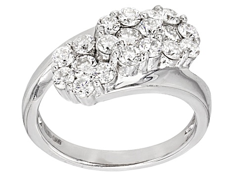 Pre-Owned Moissanite Platineve Ring 1.26ctw D.E.W