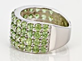 Pre-Owned Green Demantoid Sterling Silver Ring 5.50ctw