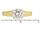 Pre-Owned Moissanite 14k Yellow Gold Over Sterling Silver Ring 1.50ct D.E.W