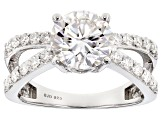 Pre-Owned Moissanite Platineve Ring 2.80ctw D.E.W