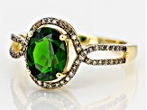 Pre-Owned Green Chrome Diopside 10k Yellow Gold Ring 1.92ctw