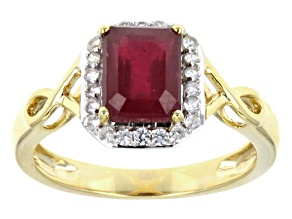 Pre-Owned Mahaleo Ruby 10k Yellow Gold Ring 1.92ctw.