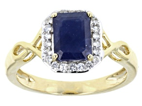 Pre-Owned Blue Sapphire 10k Yellow Gold Ring 1.92ctw.