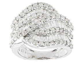 Pre-Owned Diamond Rhodium Over Sterling Silver Ring 1.91ctw