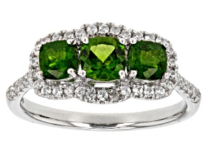 Pre-Owned Green Chrome Diopside Sterling Silver Ring 1.90ctw