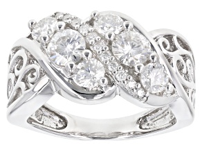 Pre-Owned Moissanite Platineve Ring 1.29ctw D.E.W