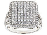 Pre-Owned White Cubic Zirconia Rhodium Over Silver Ring 2.28ctw