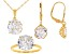 Pre-Owned White Cubic Zirconia 18k Yellow Gold Over Sterling Silver Jewelry Set 19.80ctw