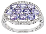 Pre-Owned Blue Tanzanite Silver Ring 2.36ctw