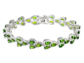 Pre-Owned Green Chrome Diopside Sterling Silver Bracelet 11.04ctw