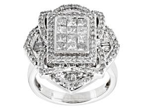 Pre-Owned Diamond 10k White Gold Ring 1.50ctw
