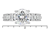 Pre-Owned Moissanite Platineve Ring 2.92ctw D.E.W