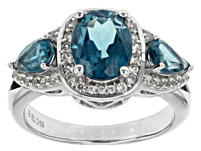 Pre-Owned London Blue Topaz Sterling Silver Ring 3.41ctw