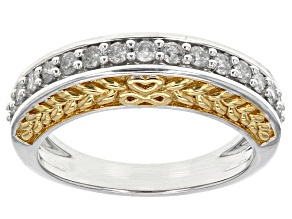 Pre-Owned Diamond 10k Two-Tone Gold Ring .40ctw