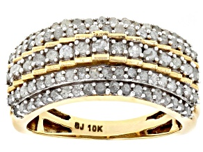Pre-Owned White Diamond Ring 10k Yellow Gold 1.00ctw