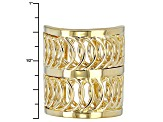 Pre-Owned 18k Yellow Gold Over Bronze Wide Band Ring
