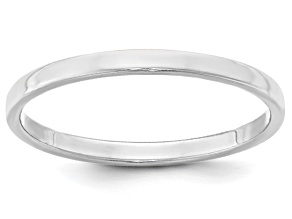 Pre-Owned 14k White Gold 2mm Flat Band Ring