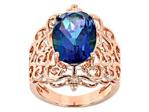 Pre-Owned Flower Petal™ Quartz Copper Ring 5.10ctw