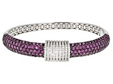 Pre-Owned Purple Rhodolite Sterling Silver Bracelet 8.63ctw