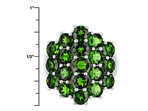 Pre-Owned Green Chrome Diopside Sterling Silver Ring 5.45ctw