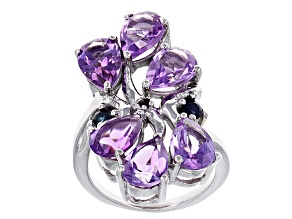 Pre-Owned Purple Amethyst Sterling Silver Ring 7.85ctw