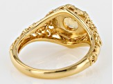 Pre-Owned Yellow Citrine 18k Gold Over Sterling Silver Ring .68ct