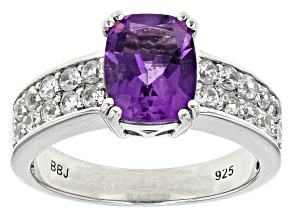 Pre-Owned Purple African Amethyst Sterling Silver Ring 2.84ctw