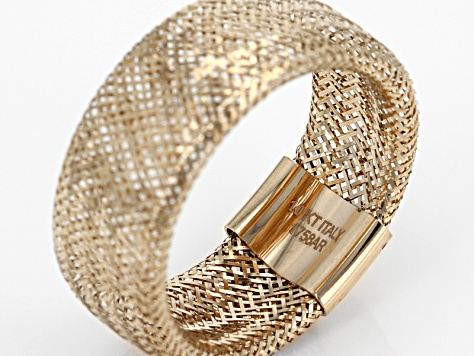 Pre-Owned 10k Yellow Gold Stretch Mesh Ring 8.00mm Gauge