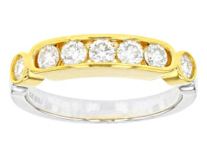 Pre-Owned Moissanite Platineve Two Tone Ring .70ctw D.E.W