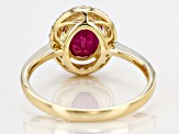 Pre-Owned Red Ruby 10k Yellow Gold Ring 2.05ctw