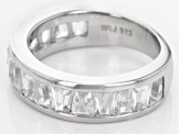 Pre-Owned White Zircon Sterling Silver Band Ring 2.73ctw