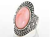 Pre-Owned Pink Peruvian Opal Sterling Silver Ring