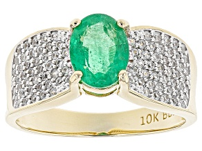 Pre-Owned Green Emerald 10k Yellow Gold Ring 1.50ctw