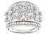 Pre-Owned White Cubic Zirconia Rhodium Over Sterling Silver Ring 2.09ctw