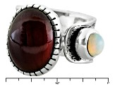 Pre-Owned Hessonite Sterling Silver Ring. .32ct