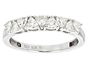 Pre-Owned Moissanite Fire® .81ctw Diamond Equivalent Weight Trillion Cut Platineve™ Ring