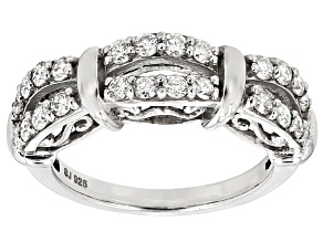 Pre-Owned Moissanite Platineve Ring .48ctw D.E.W