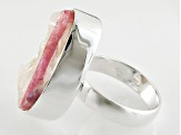 Pre-Owned Pink Tourmaline Quartz Sterling Silver Ring