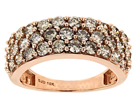 Pre-Owned Champagne Diamond 10k Rose Gold Ring 2.00ctw