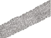 Pre-Owned Rhodium Over Bronze Woven Bracelet 7.5 inch