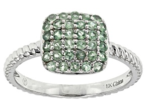 Pre-Owned Color Change Alexandrite 10k White Gold Ring .45ctw