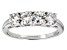 Pre-Owned Moissanite Platineve Ring 1.30ctw DEW.