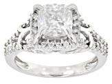 Pre-Owned Moissanite Platineve Ring 2.10ctw D.E.W
