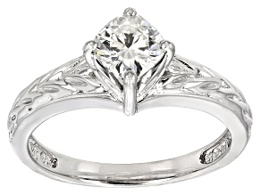 Pre-Owned Moissanite Ring Platineve ™ .80ct DEW
