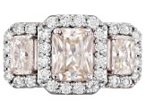 Pre-Owned Moissanite Ring Platineve™ 3.94ctw DEW
