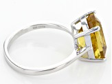 Pre-Owned Golden Apatite Sterling Silver Ring 4.30ct
