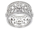 Pre-Owned White Zircon Sterling Silver Ring 2.70ctw